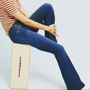 McGuire Majorelle High Rise Raw Hem Flare Jeans